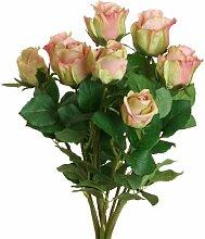 Kunstblume Rose Blumengesteck Die Saisontruhe