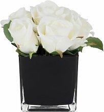 Kunstblume Rose Blumengesteck in Vase Die
