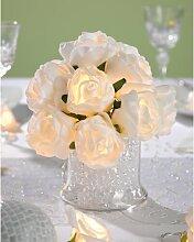 Kunstblume Rose LED-Blumengesteck