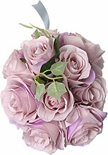 Kunstblumen 10-Kopf Rose Hydrangea Blumen Hochzeit