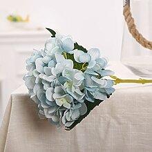 Kunstblumen YitingHeimtextilien dekoratives Hochzeit Seide Blume Pflanze, blau