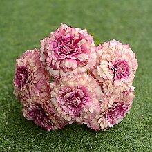Kunstblumen YitingHeimtextilien dekoratives Silk wedding bouquet, Rosa