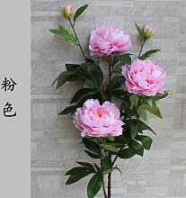 Kunstblumen Yiting Pfingstrose Fake Blume silk Blume, Rosa