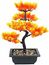 Kunstbonsai Baum Pinie/Zeder im Topf 40 cm,