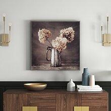 Kunstdruck Blumen in Kanne - 31 x 31 cm East Urban