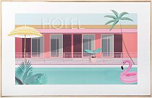 Kunstdruck Hotelpool 50x32