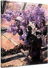 Kunstdruck - Mary Cassatt - Flieder in einem Fenster - 60x80cm einteilig - Alte Meister - Leinwandbilder - Bilder als Leinwanddruck - Bild auf Leinwand - Wandbild von Bilderdepot24