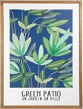 Kunstdruck mit Pflanzenmotiv 49x64