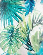 Kunstdruck mit Tropenlaubmuster 65x82