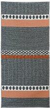 Kunstfaser Outdoor Teppich für Haus und Garten, waschbar. Design: HORREDSMATTAN SAVANNE grau 70 x 150 cm