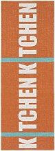 Kunstfaser Outdoor Teppich für Haus und Garten, waschbar. Design: HORREDSMATTAN KITCHEN orange 70 x 350 cm