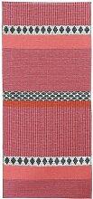 Kunstfaser Outdoor Teppich für Haus und Garten, waschbar. Design: HORREDSMATTAN SAVANNE pink 150 x 100 cm