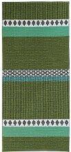 Kunstfaser Outdoor Teppich für Haus und Garten, waschbar. Design: HORREDSMATTAN SAVANNE grün 70 x 200 cm