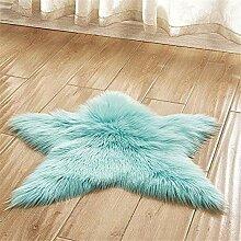 Kunstfell Stern Form Teppich Badteppich Weiches
