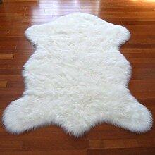 Kunstfell-Teppich, Schaffell, schneeweiß,