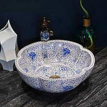 Kunsthandgemalte Keramik-Waschbecken Bad