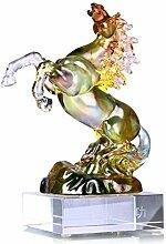 Kunsthandwerk Altes französisches Glas Pferd Dekoration Glücklich Glas Büro Wohnzimmer Desktop Einrichtung Geschäft Geschenk Kunstwerk