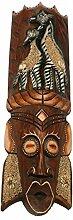 Kunsthandwerk Asien Maske ANIMAL 50 cm, Holzmaske