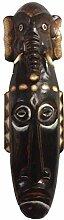 Kunsthandwerk Asien Maske Elefant aus Holz,