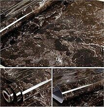 Kunstleder dunkelbraun Marmor Kontakt Papier Folie, selbstklebend, Vinyl Wasserdicht schälen und Stick Granit Regalen Wallpaper Rolle (24by 199,6cm)