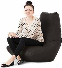 Kunstleder Für drinnen/Außenbereich Gaming Sitzsack Lounger Sessel, Erhältlich in 10 Farben - Schwarz