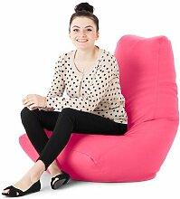 Kunstleder Für drinnen/Außenbereich Gaming Sitzsack Lounger Sessel, Erhältlich in 10 Farben - Rosa