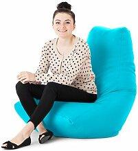 Kunstleder Für drinnen/Außenbereich Gaming Sitzsack Lounger Sessel, Erhältlich in 10 Farben - Türkis