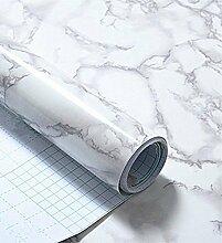 Kunstleder grau Marmor Kontakt Papier Folie, selbstklebend, Vinyl Wasserdicht schälen und Stick Granit Regalen Wallpaper Rolle (24by 297,2cm)