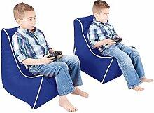 Kunstleder Kinder Sitzsack Spiel - Königsblau