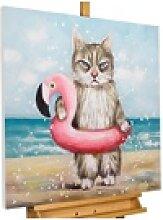 KUNSTLOFT Gemälde Badespaß mit Mio, handgemaltes