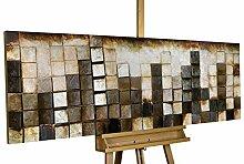 KunstLoft Holzbild 'Goldglanz im Zentrum'
