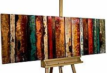 KunstLoft® Metallbild 'Flashy Wood'