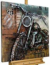 KunstLoft® Metallbild 'Freedom on Wheels'