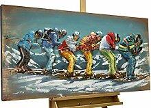 KunstLoft® Metallbild 'Lustige Skifahrt'