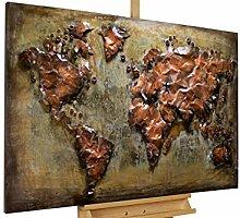 KunstLoft® Metallbild 'Metal Map'
