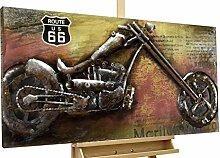 KunstLoft® Metallbild 'Outlaw Bike'
