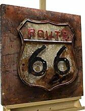 KunstLoft® Metallbild 'Route 66'