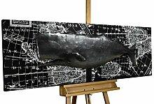 KunstLoft® Metallbild 'Whale Watching'