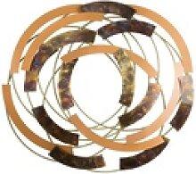 KUNSTLOFT Metallbild Spirals, handgefertigte