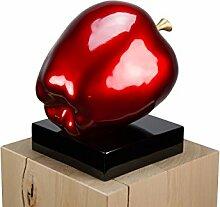 kunstloft skulpturen günstig online kaufen   lionshome - Wohnzimmer Rot Gold