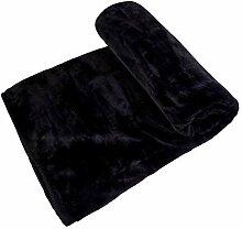 Kunstnerz, schwarz Fleece Überwurf Decke 150cm