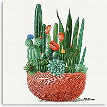 Kunstorner Botanische Wandkunst auf Leinwand