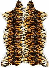 Kunstpelz TigerMuster Teppich, iCasso Tier Serie, Kunstfell Teppich mit Kuhfell Muster / Teppich / Teppich für Heimtextilien, verschiedene Größen (50 x 90 cm)