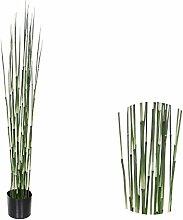 Kunstpflanze 120 cm Bambus-Gras Deko-Pflanze