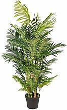 Kunstpflanze Arecapalme grün, mit 9 Stämmen, im