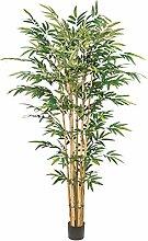 Kunstpflanze Bambus grün, mit Naturstamm und ca.