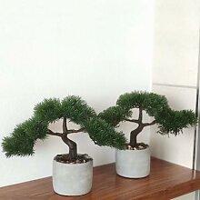 Kunstpflanze Bonsai, 2er-Set