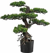 Kunstpflanze Bonsai grün, im Kunststofftopf, ca.