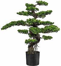 Kunstpflanze Bonsai grün mit Kunststofftopf, ca.
