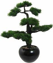 Kunstpflanze Bonsai Kiefer im schwarzen